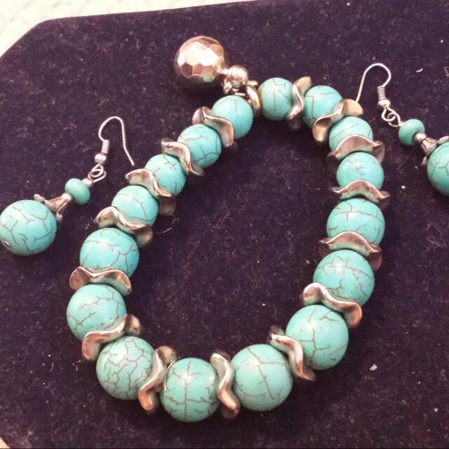 Stone Bracelet And Earing