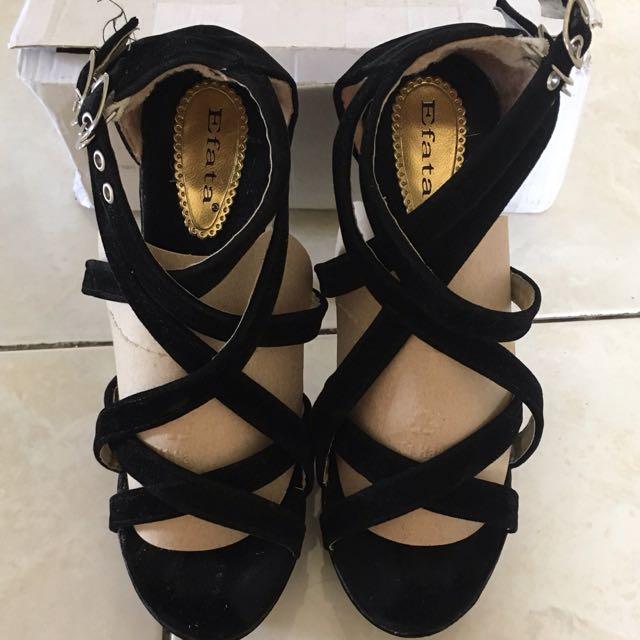 Strapy Black Heels