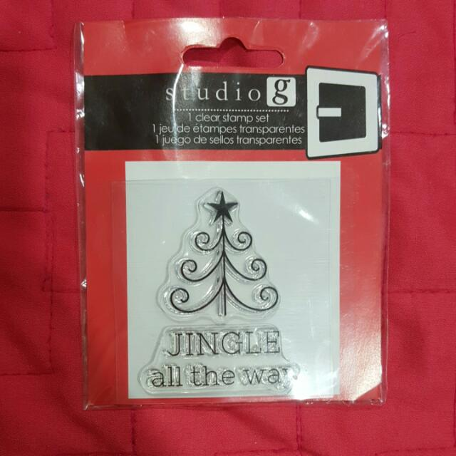 Studio G Clear Stamp - Jingle All The Way