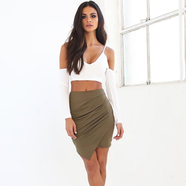 Tigermist Olive Skirt