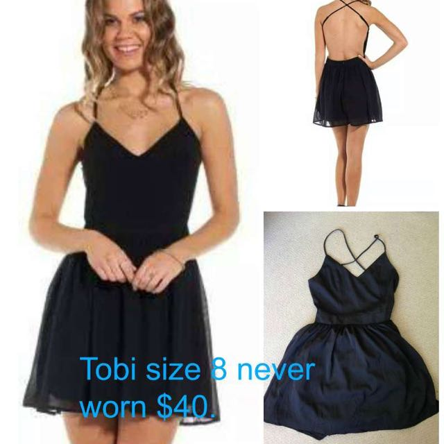 Tobi Black Criss Cross Dress.