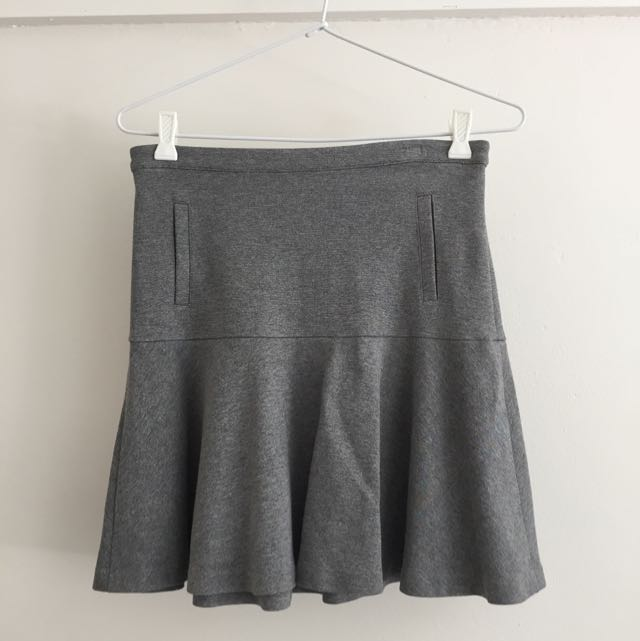 Tokito Grey flared Work Skirt