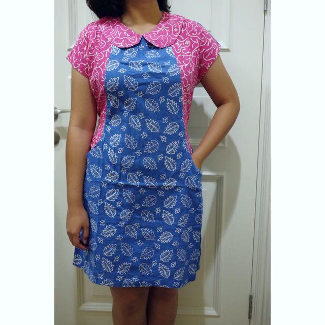 Two Tone Batik Dress