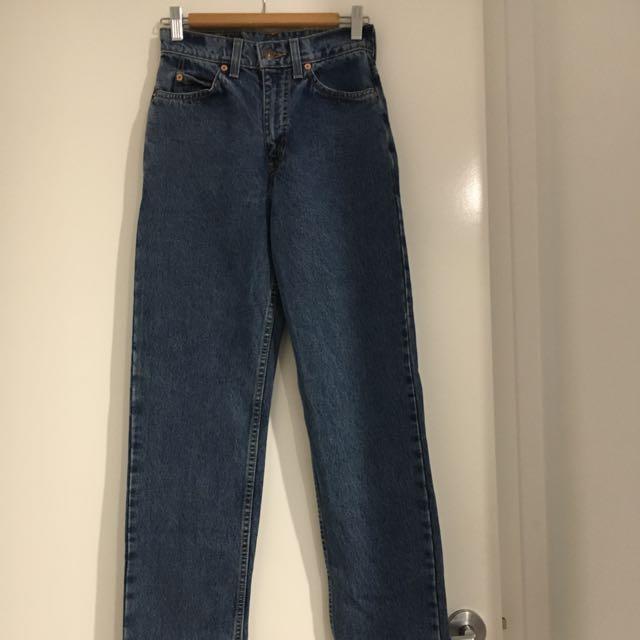 Vintage Dark Blue Denim Levi Jeans