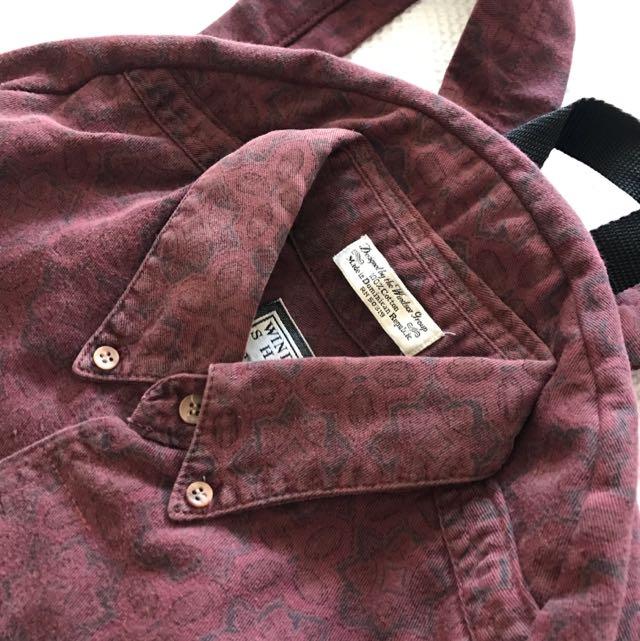 Vintage Shirt Backpack
