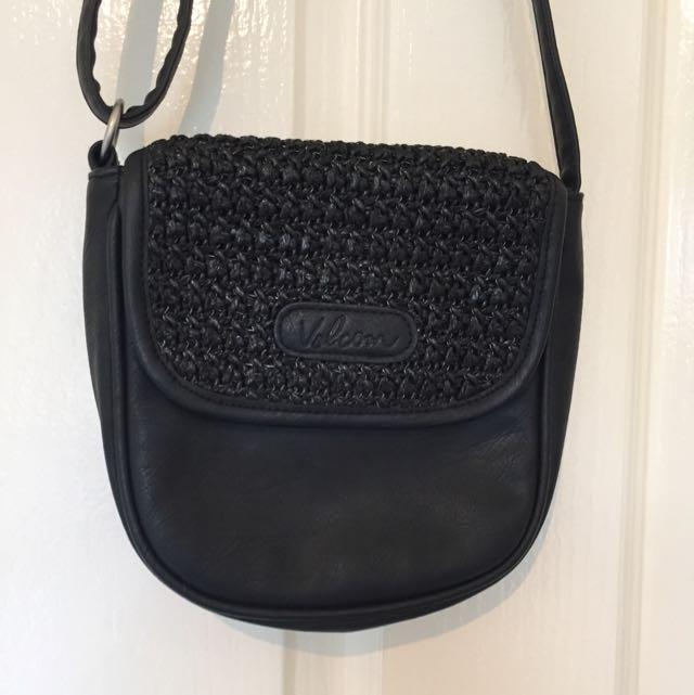 Volcom Black Leather Bag