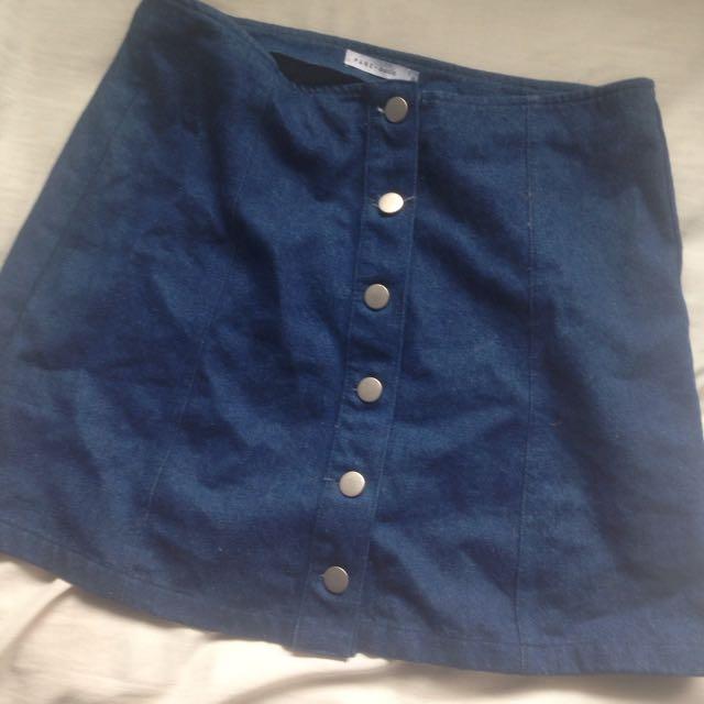 Womens Pare-basic Denim Skirt Size 10