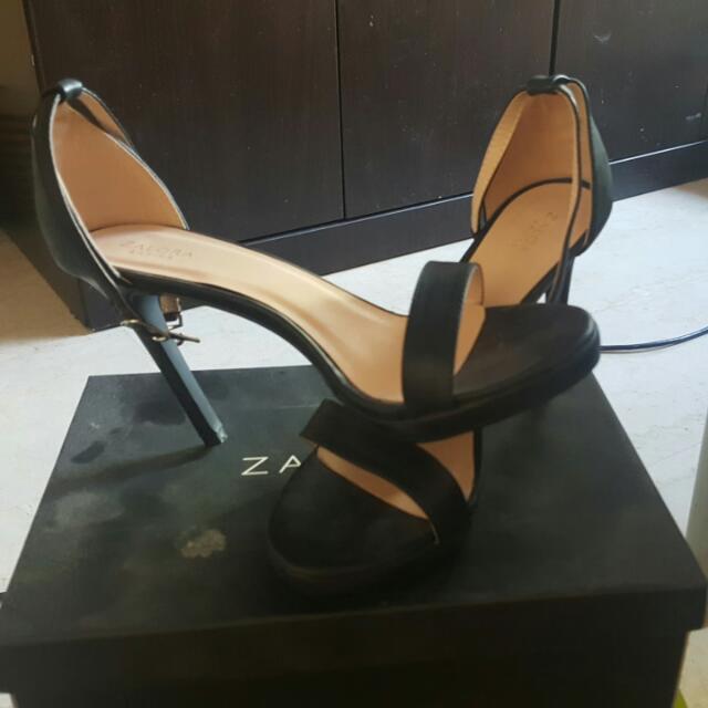 Zalora Basics high heel sandal with ankle strap