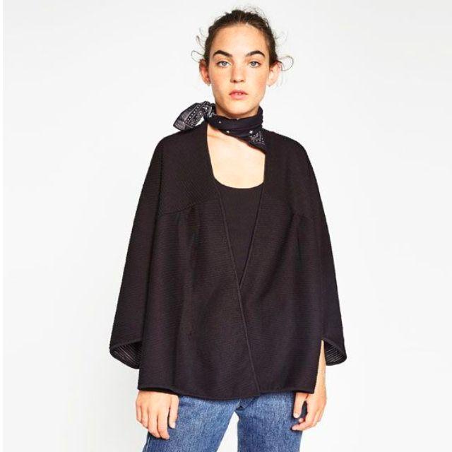 Zara Kimono-style Pleated Jacket