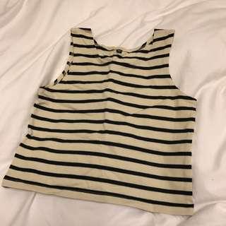 BN Striped Crop Top
