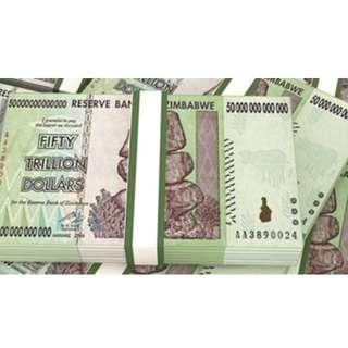 Fifty trillion dollars zimbabwe