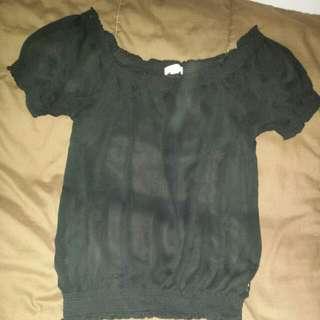 Black Forever21 T-shirt Size Medium