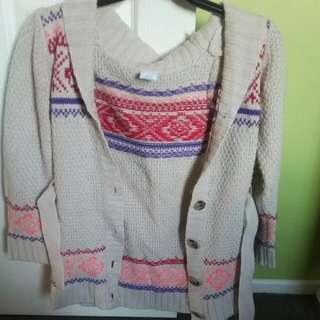 Patterned Knitted Cardi