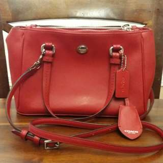 Authentic Coach Bag In Beautiful Red Color