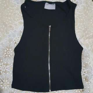 Zip-Up Crop Size S