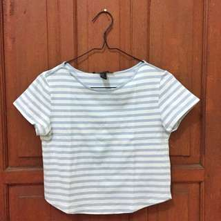 Forever21 Crop Tee Stripes
