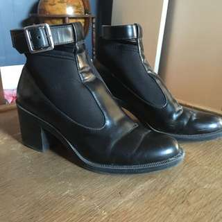 H&M Ankle Boot Shoe In Mary Jane Style With Ankle Strap