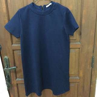 Lose Navy Middle Dress