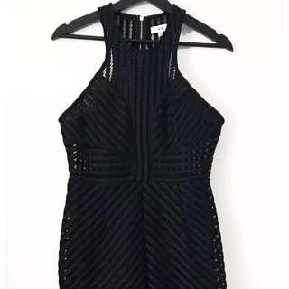 Ava. Dress Size 12 - Black Cocktail Night Party Dress LBD City Beach Designer