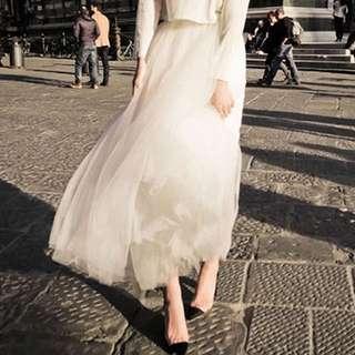 👩🏻✨中長款紗裙✨