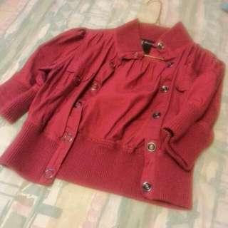 Brand new Dark pink  crop jacket