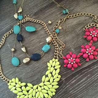 3 Statement Necklaces