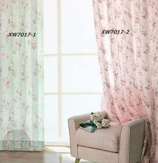【漫布雲端】無接縫窗紗系列九 直紋玫瑰-三明治遮光窗簾布羅馬簾門簾訂做