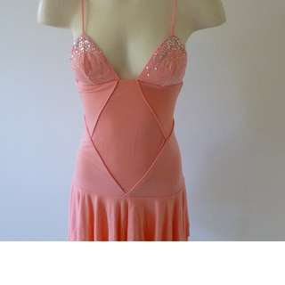 SASS & BIDE dress Peach Size 6-8 Fitted Bust & Waist Tiered layered skirt