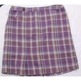 Preloved Purple Tartan Skirt