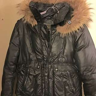 Mackage Bomber Jacket With Fur Hood