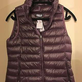 ParkLife (Aritzia) Eggplant Vest With Carry Pouch