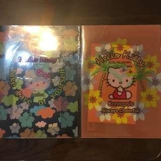 Kitty歐洲花語貼紙A4文件夾