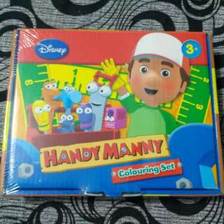 Brand New BN Sealed Disney Handy Manny Colouring Set