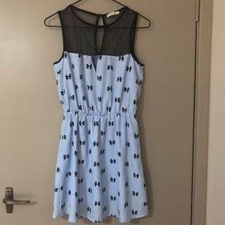 Blue Now Tie Dress Size 8