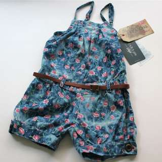 ZARA Floral Overall