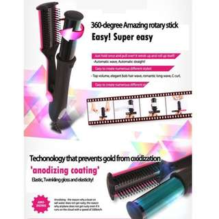 Hair Instyler Design 360 Degree Two Way Rotating Cluler