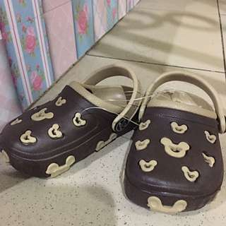Sepatu Baby Mickey Coklat