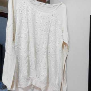 White Blouse Brokat (Import)