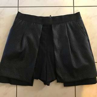White Suede Skort- Short/skirt Black
