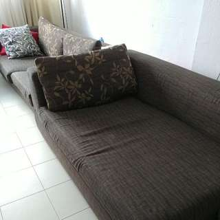 Preloved Chaise Lounge And 4 Seater Sofa