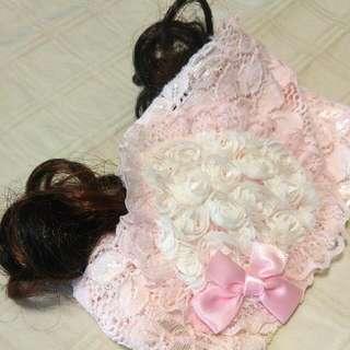 Baby Girl Headband With Hair Curls
