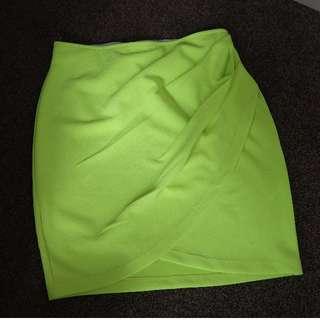 Fluro Yellow/Green Skirt.