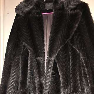 Sanctuary Clothing Los Angeles Faux Fur Coat