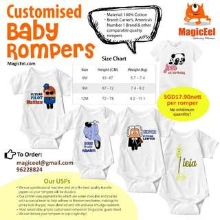 Customized Baby Rompers - Best In Town!