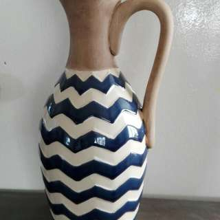 Blue N White Strip Vase