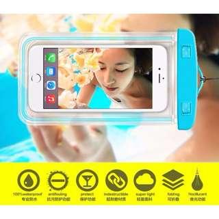 8 colors Glow Waterproof Handphone Pouch IPX 8 under 20meter