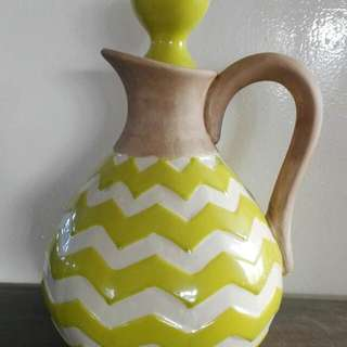 Lime Strip Vase