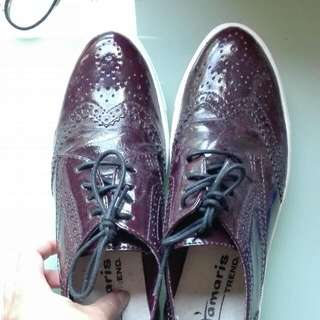 Purple Brogue Style Shoes
