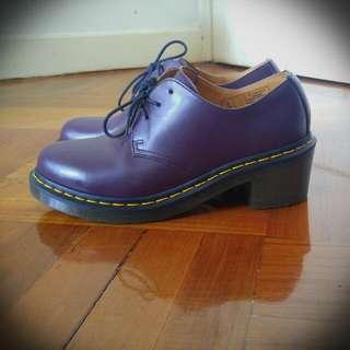Dr Martens Uk 6 Block Heel 3 Eyelet Shoes