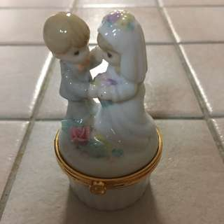 Precious Moments Porcelain Ring Box